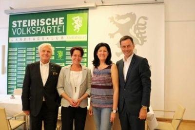 Gregor Hammerl, Sonja Ledl-Rossmann, Barbara Riener und Ernst Gödl