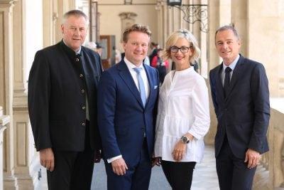 KO Karl Lackner, IV-Präsident Georg Knill, LAbg. Alexandra Pichler-Jessenko, Gf. Gernot Pagger